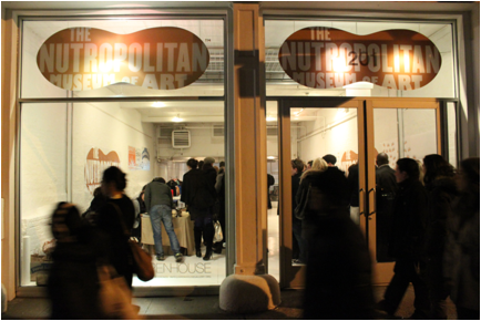 Outside view of Peanut Butter & Co.'s the Nutropolitan Museum of Art popup gallery in Soho, New York. Photo credit: Theresa Raffetto.