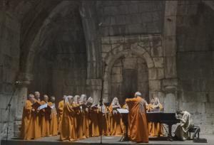 Tigran Hamasyan performing at Haghpat Monastery. Credits: Luys i Luso