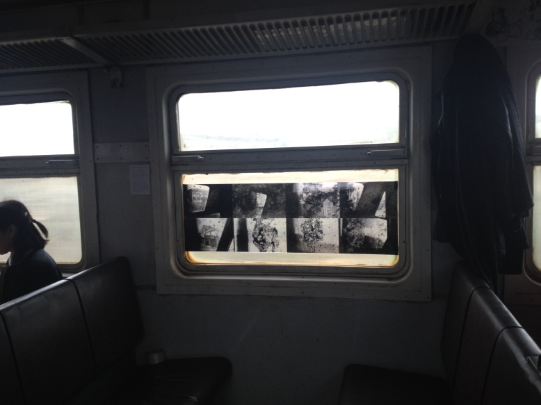 """In Light of Memory"" by Melanya Hamasyan in the ""CHAOS"" wagon. Photo credits: Charlotte Poulain"
